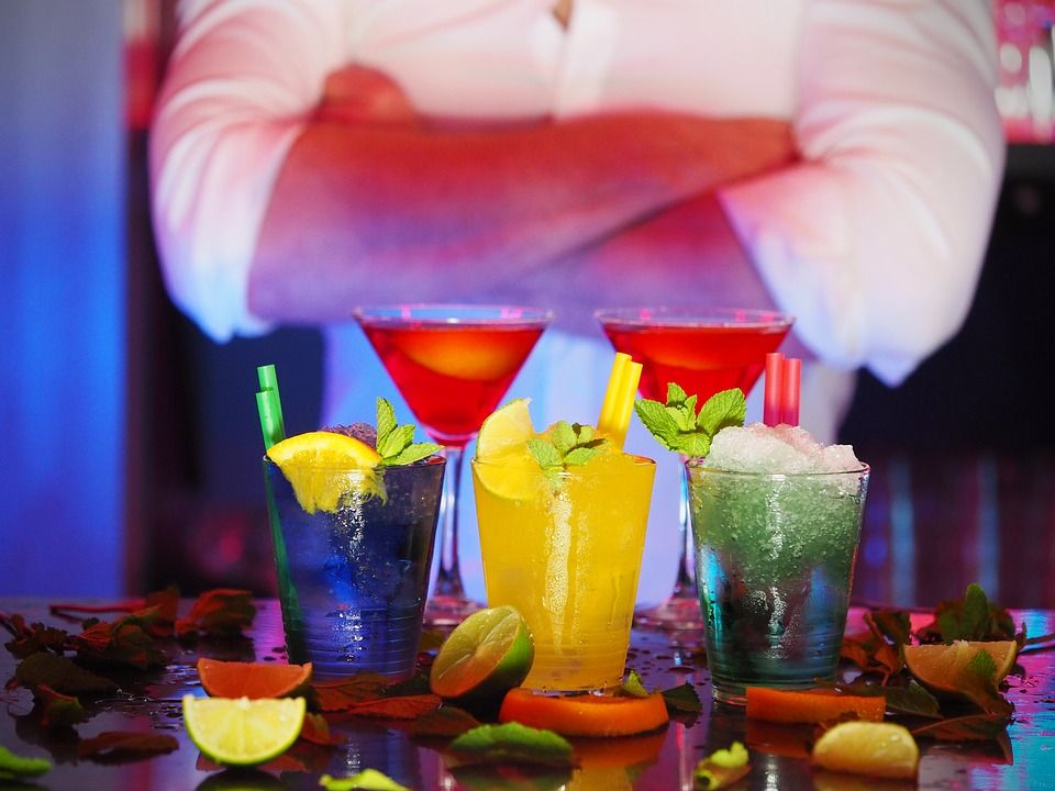 bartending with cocktails