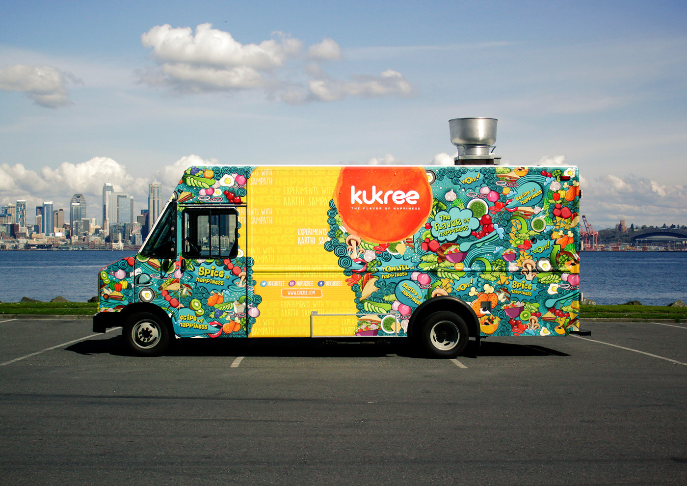 colorful food truck