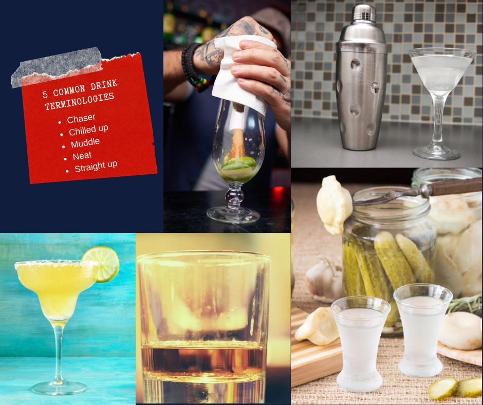 5 COMMON BAR DRINK TERMINOLOGIES